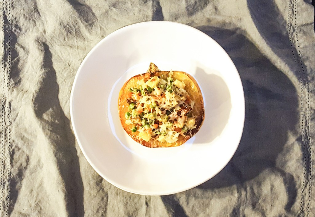 Apple and Sausage Stuffed Acorn Squash | Feast In Thyme