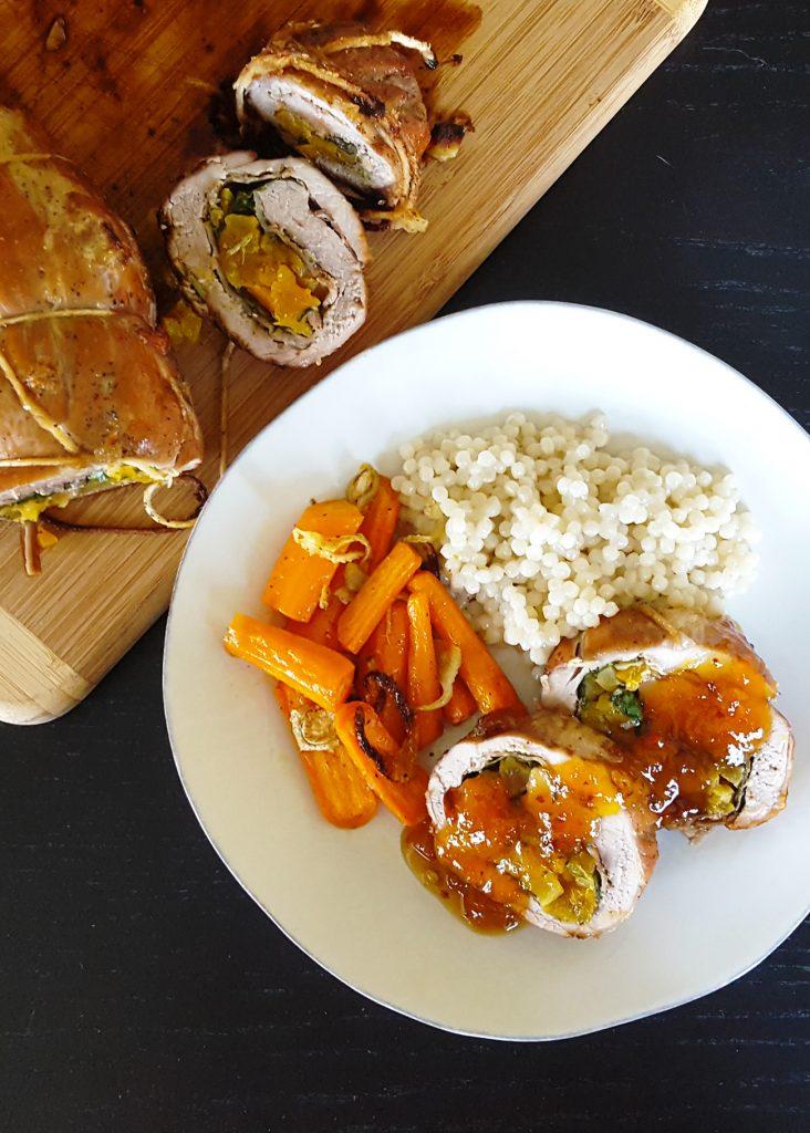 Brandied Apricot Stuffed Pork Tenderloin Feast In Thyme
