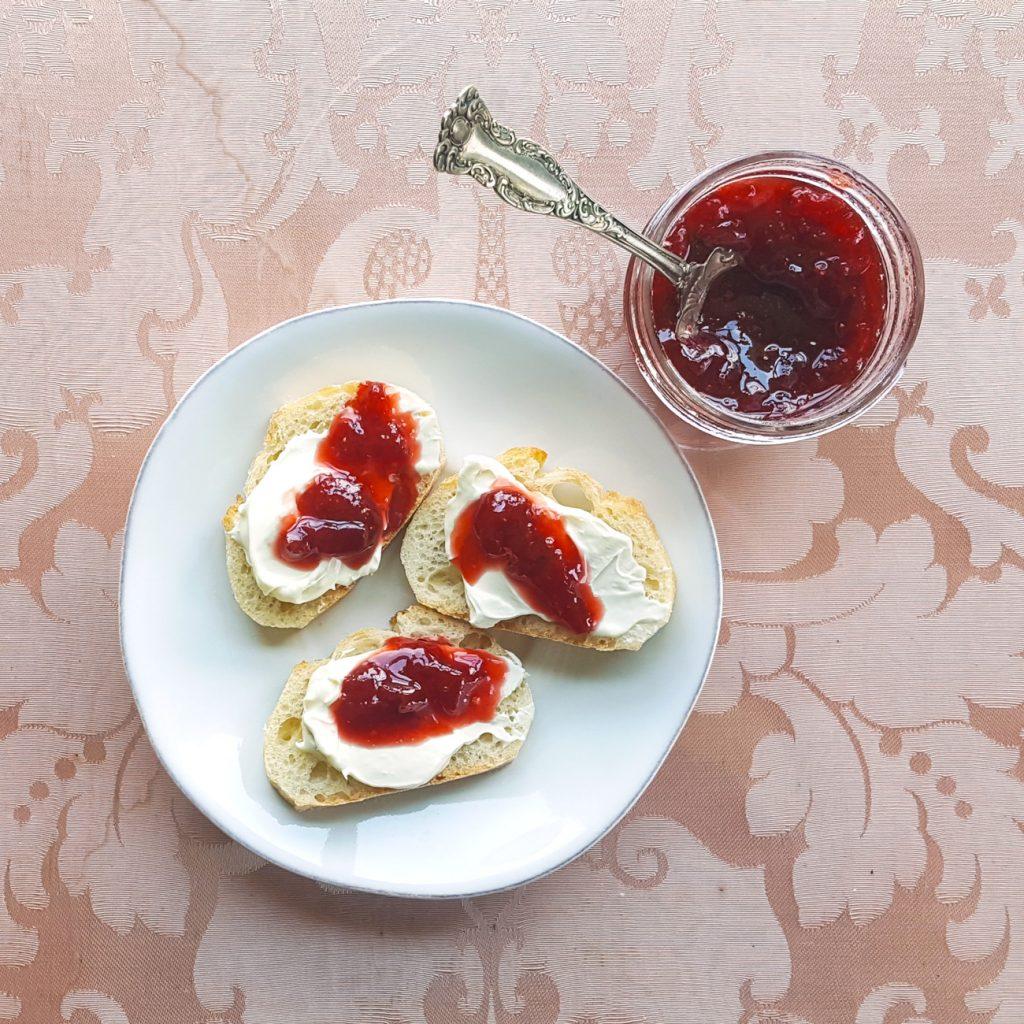 Honey Rum Strawberry Jam | Feast In Thyme