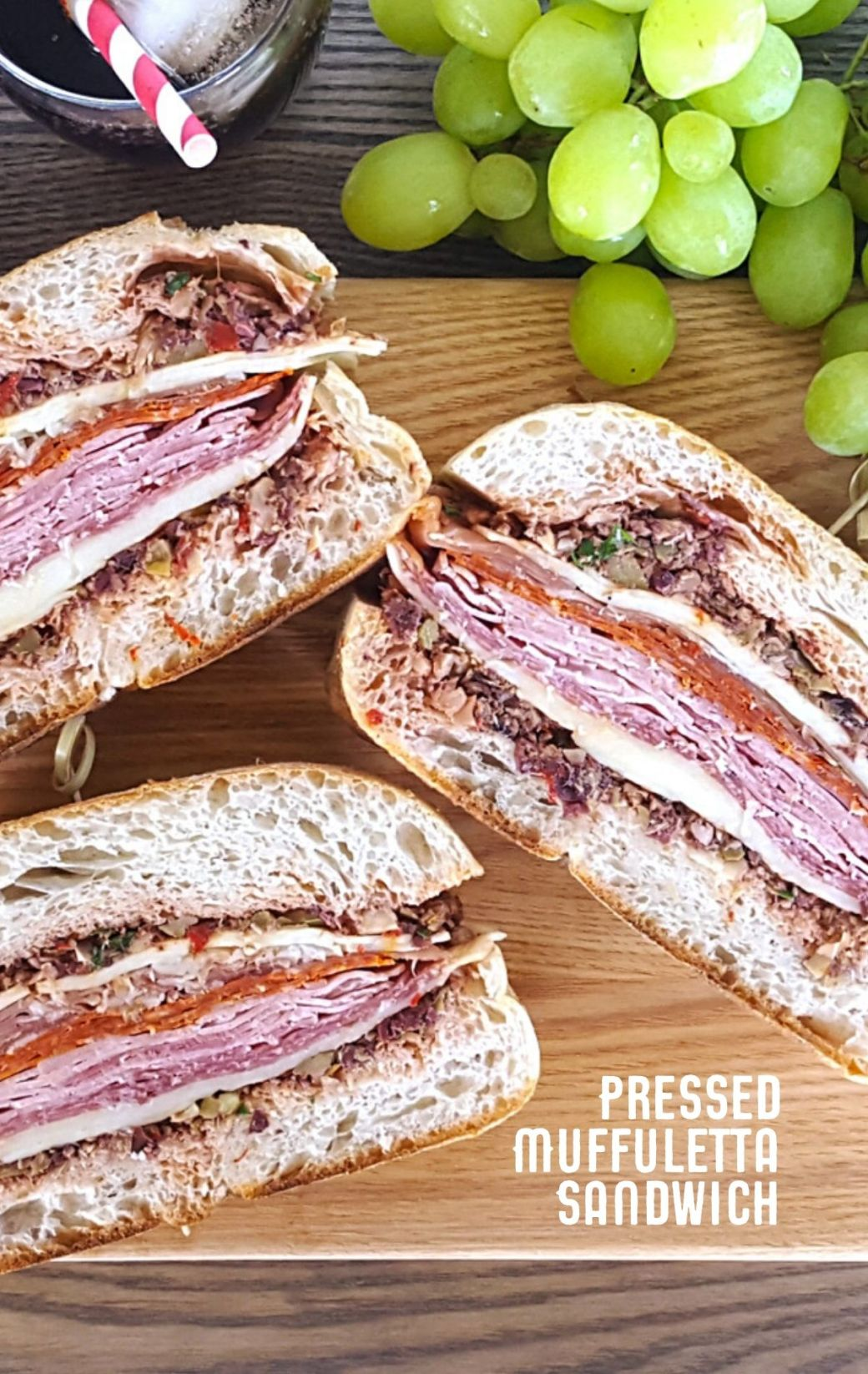 Pressed Muffuletta Sandwich for a Crowd & Tips for a Brilliant Beach Picnic