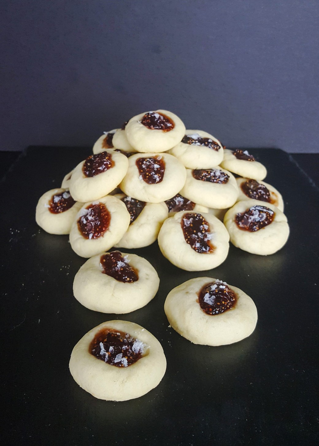 Savory Fig & Cheddar Thumbprint Cookies | Feast In Thyme