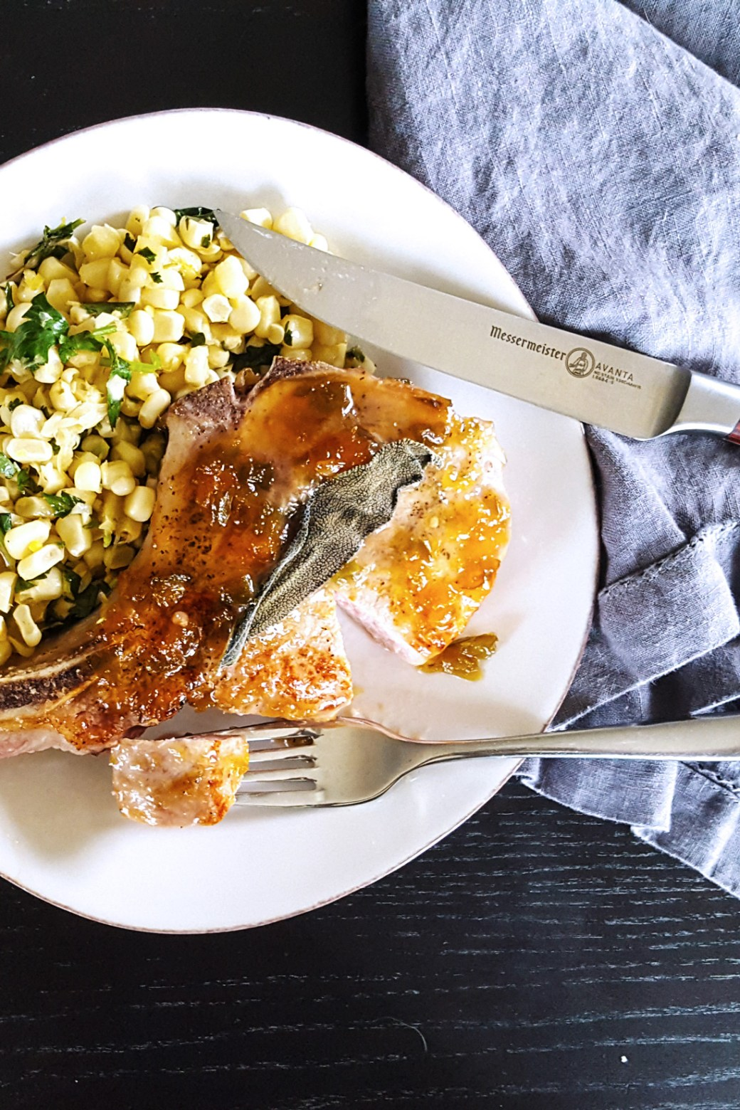 Oven Roasted Pork Chops in Jalapeno Peach Whiskey Glaze | Feast In Thyme