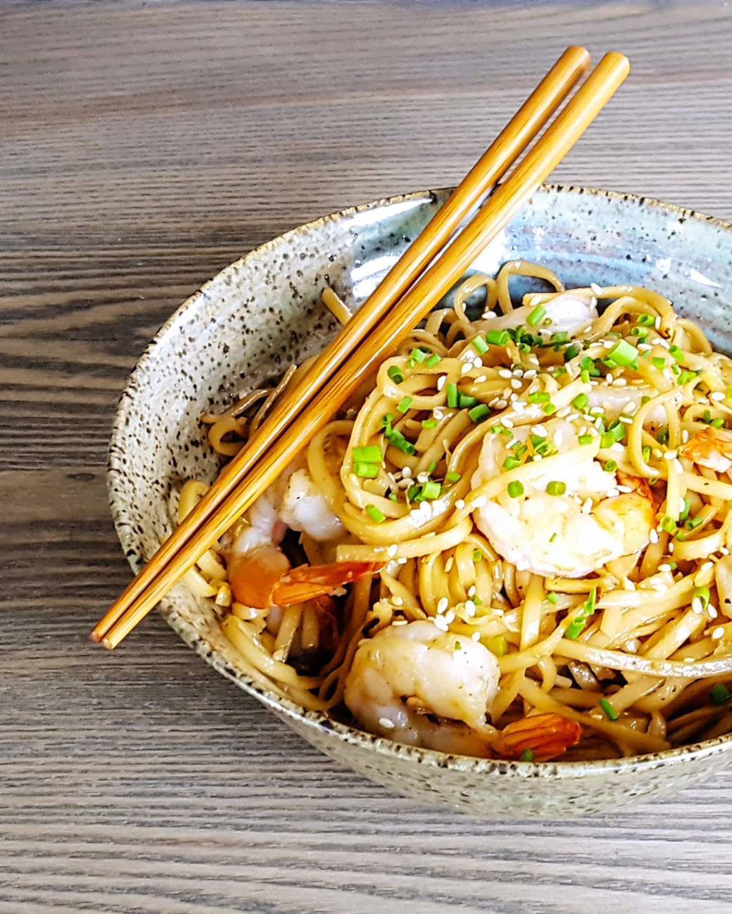 Better Than Take-Out Spicy Shrimp Udon Noodle Stir Fry | FeastInThyme.com