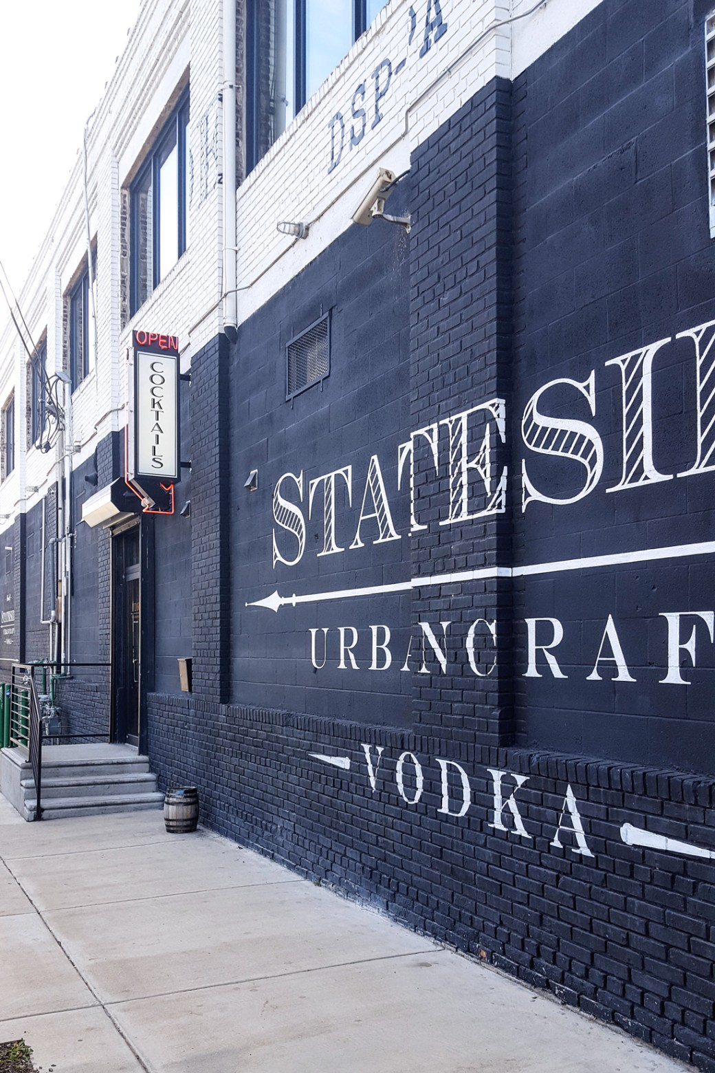 An exterior shot of the distillery building for Stateside Urbancraft Vodka. | Thymeline 35: Celebrating Philly Craft Spirits | FeastInThyme.com