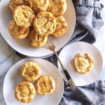 Mini Apricot Rosemary Chicken Pies bring some rustic charm to any potluck or dinner party! Make a batch ahead of time for an easy weeknight meal when you need it. | FeastInThyme.com