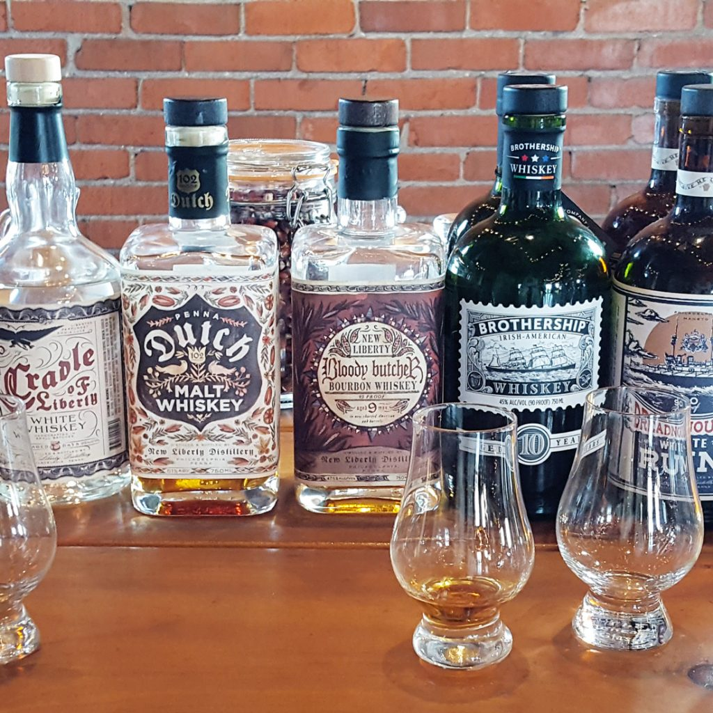 New Liberty Distillery line-up of spirits   Thymeline 36   FeastInThyme.com