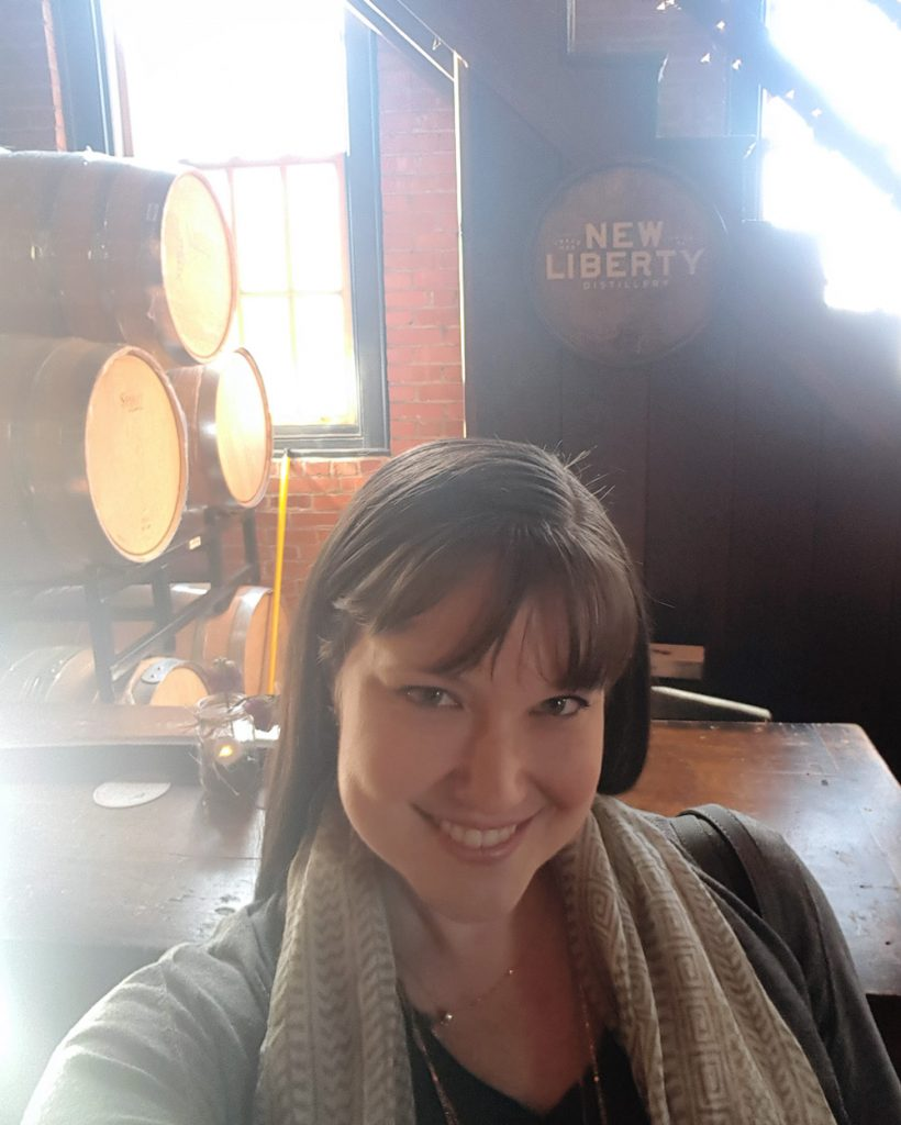 Me at the New Liberty Distillery | Thymeline 36 | FeastInThyme.com