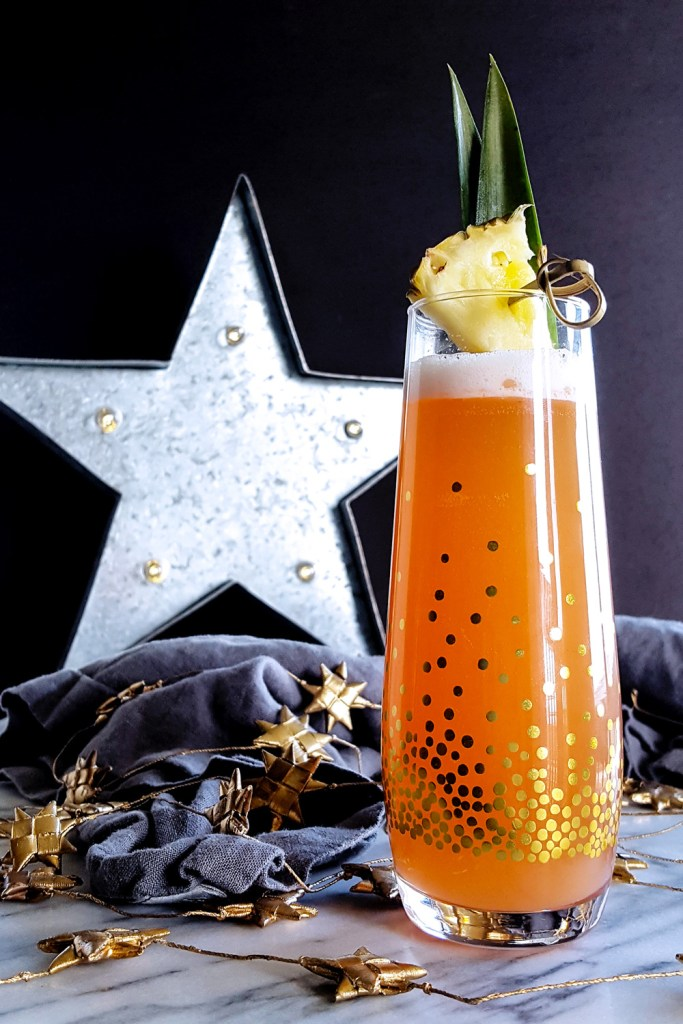 Ginger Jungle Bird Sparkling Cocktail from FeastInThyme.com
