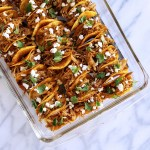 Drizzled with Sweet Spicy Soy Glaze, these Pulled Pork Mini Tacos are deliciously bite size and ready to party. A perfect snack on any gameday! #SuperBowl #Party #TinyFood #Tacos | FeastInThyme.com