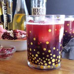 With #homemade lemon simple syrup, the Forbidden Flower Sour is a potent and refreshing elderflower & pomegranate bourbon cocktail, ideal for relaxing after a long day or sharing on the porch with friends. #cocktailrecipe #pomegranate #bourbon #whiskey #elderflower   FeastInThyme.com