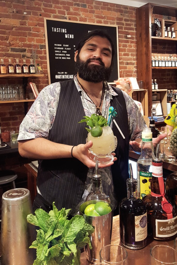 Raul Marin teaching a class at Art In The Age, Philadelphia | FeastInThyme.com