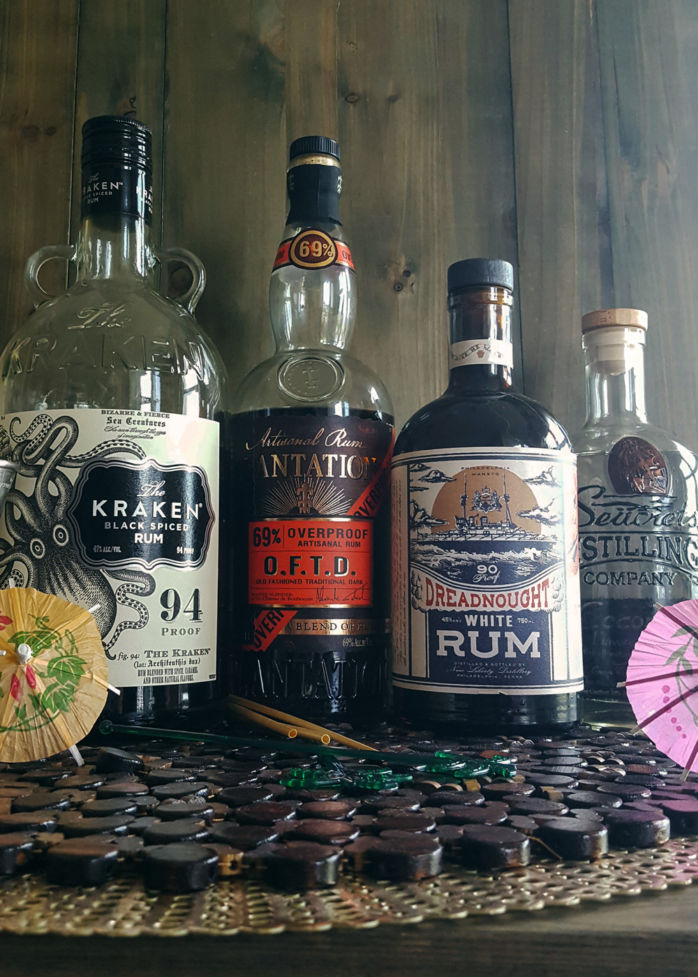 Stepping up your #tikigame with four more bottles of rum for your home tiki bar. | FeastInThyme.com