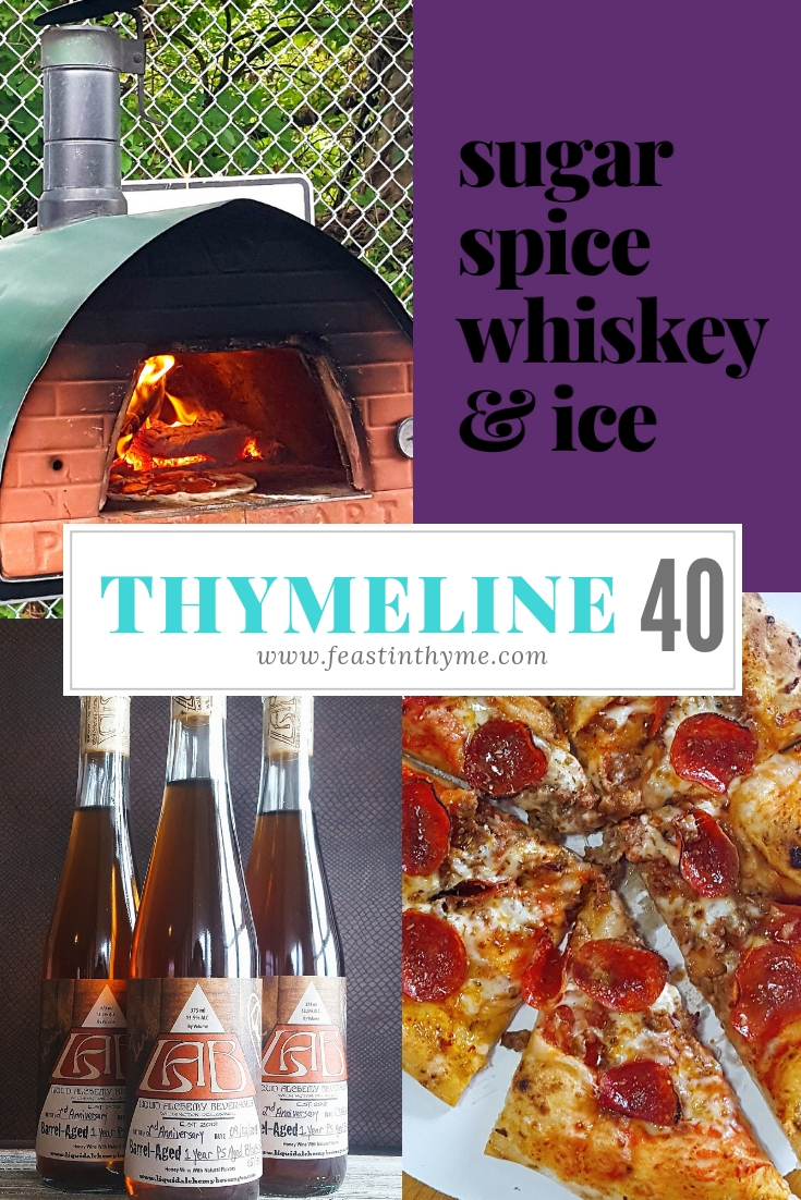 This week\'s Thymeline: Introducing Feast In Thyme merch; a celebration at Liquid Alchemy Beverages with pizza & cupcakes; and links to interesting articles and delicious recipes. #mead #swag | FeastInThyme.com
