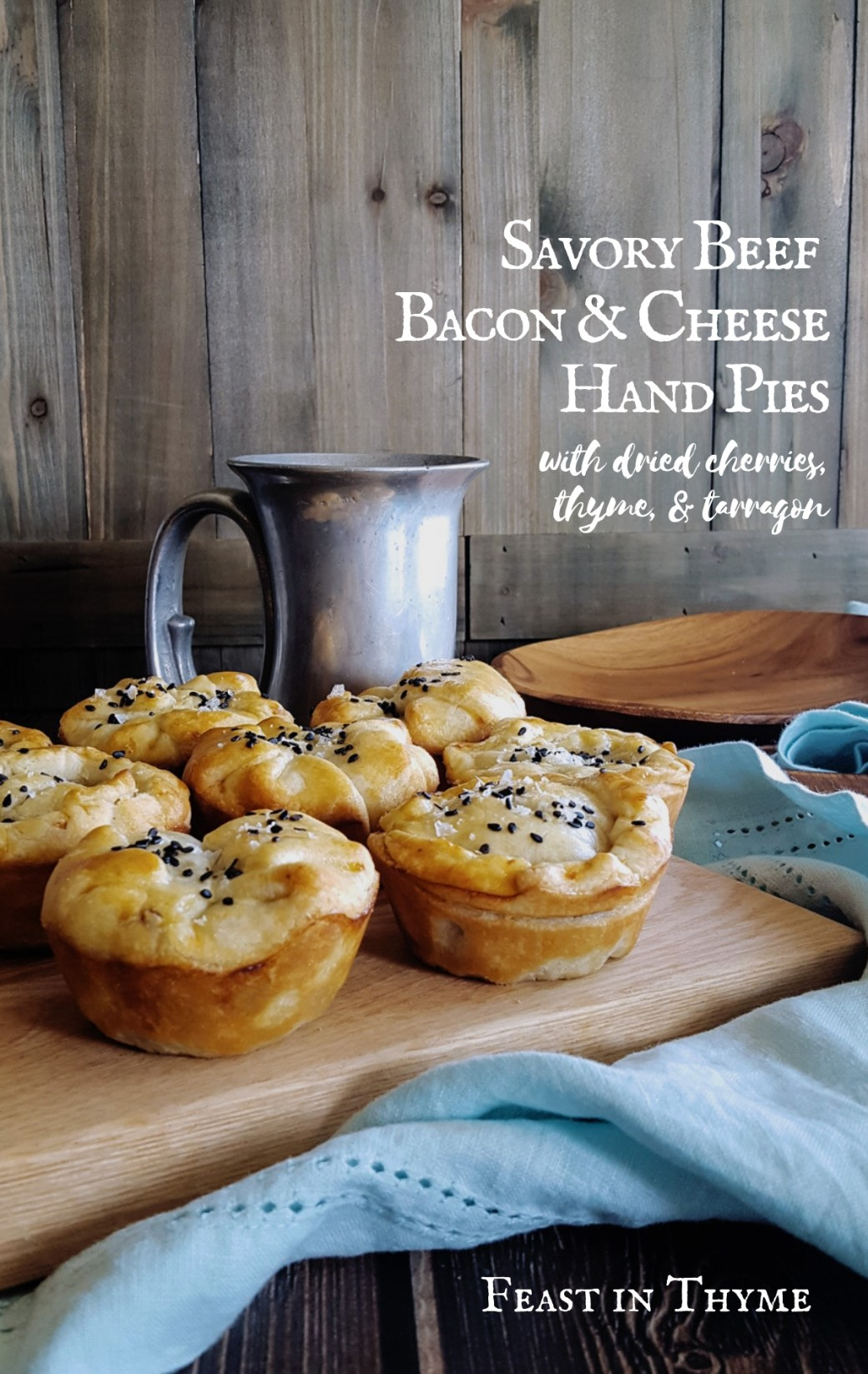 Savory Minced Beef, Bacon & Cheese Hand Pies