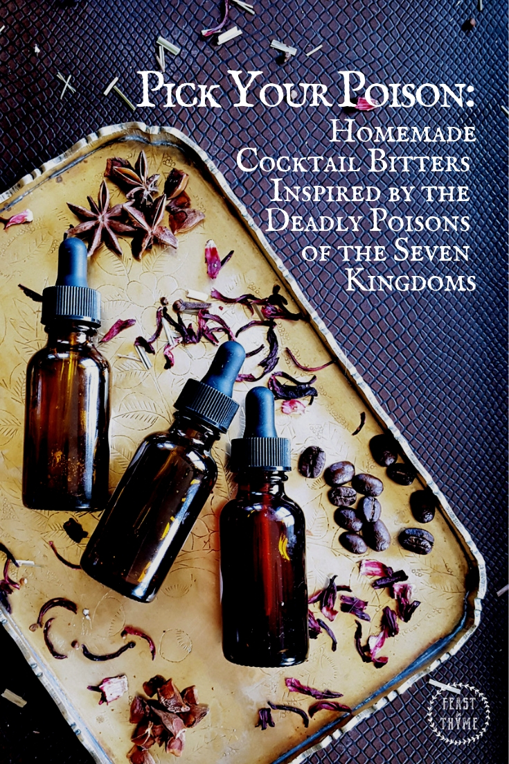 Pick Your Poison | Cocktail Bitters Inspired by the Seven Kingdoms