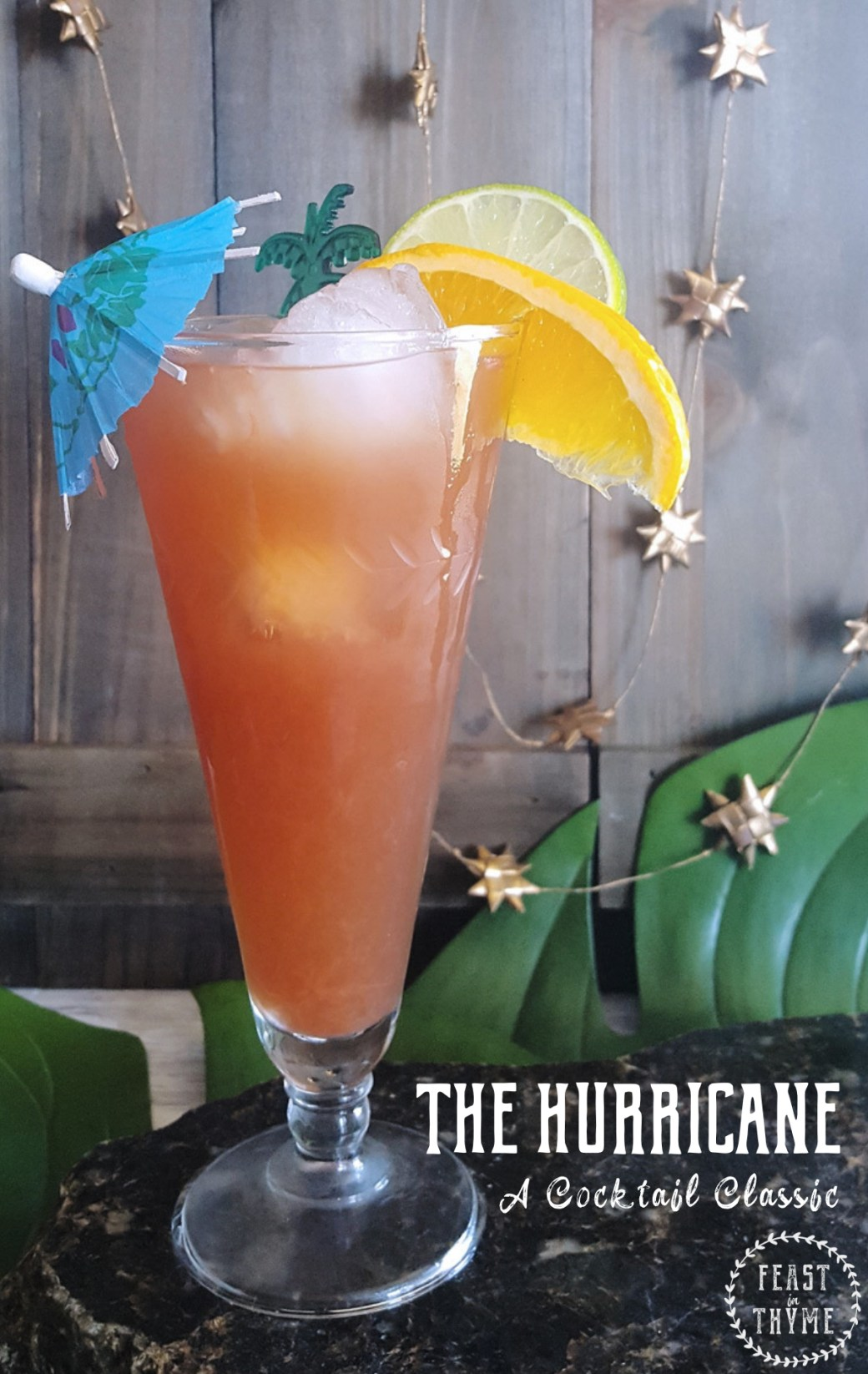 Rediscover a classic New Orleans cocktail with this delicious homemade Hurricane full of real fruit juices, Jamaican rum, and terrific tropical flavor.