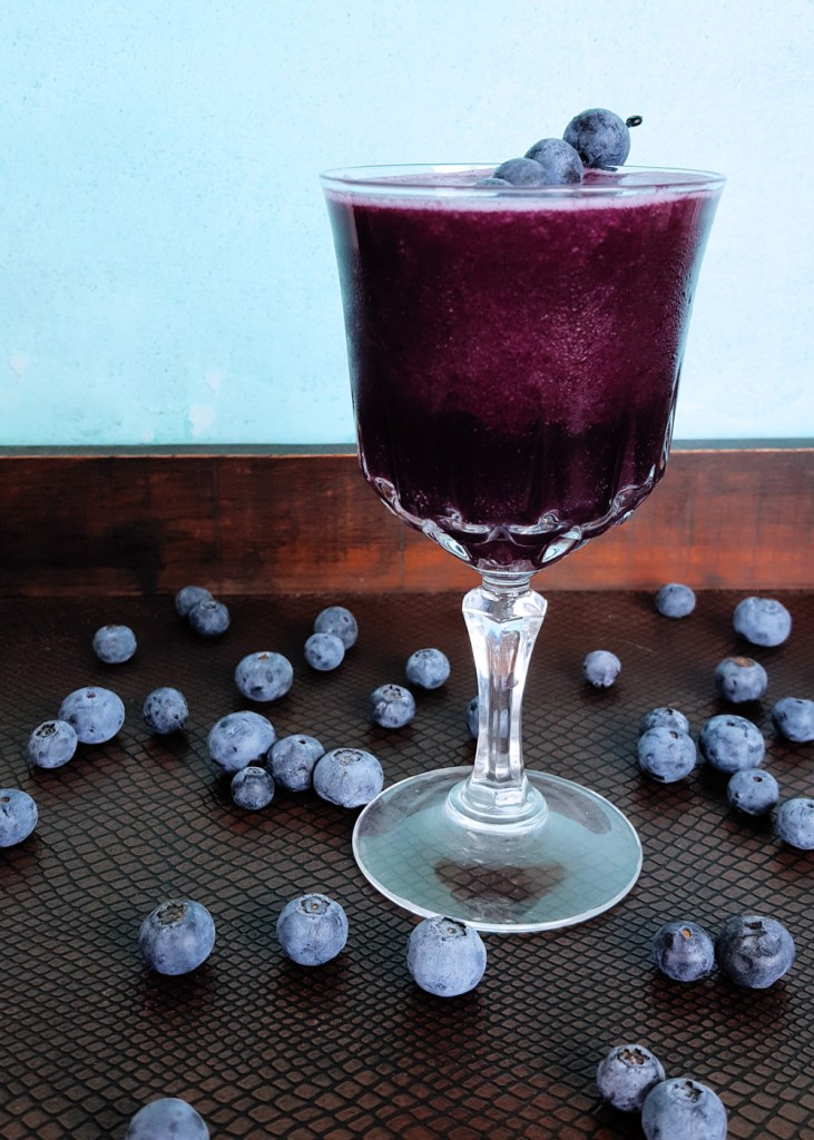 Hero image of the spiced blueberry jam cocktail