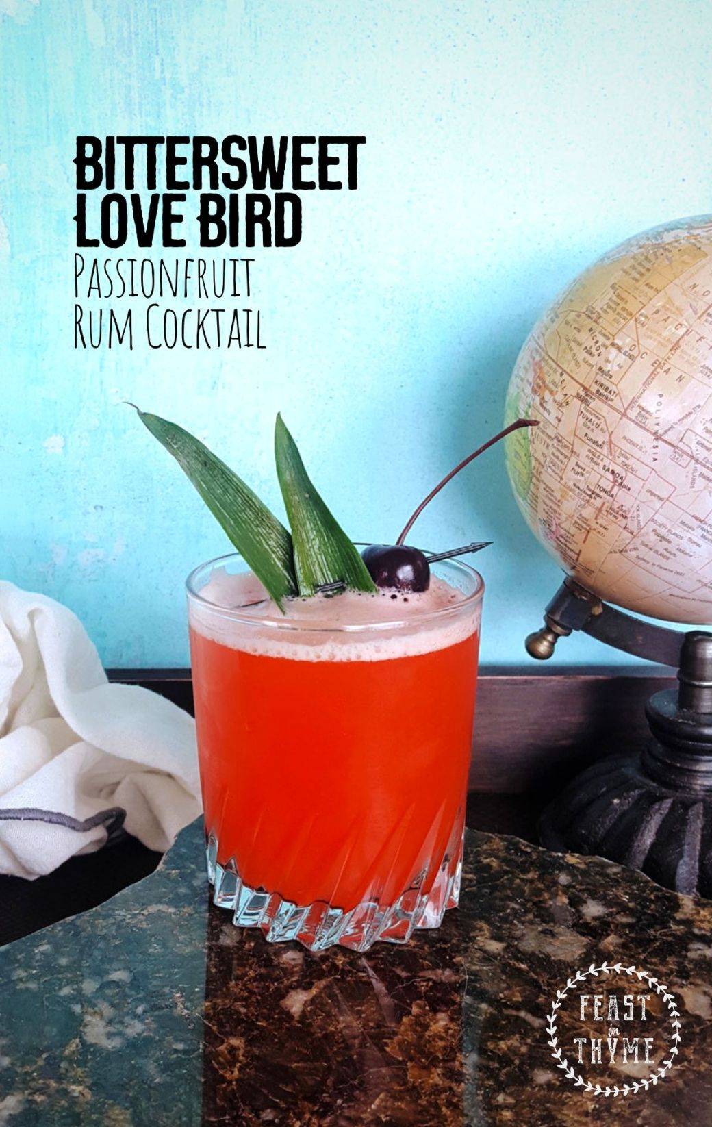 Bittersweet Love Bird | A Passion Fruit Rum Cocktail