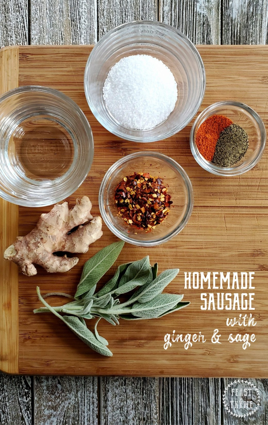 Making your own homemade sausage blend is so simple it doesn't even feel like a recipe! [Low FODMAP, Gluten Free] #sausage #fodmap #glutenfree | FeastInThyme.com