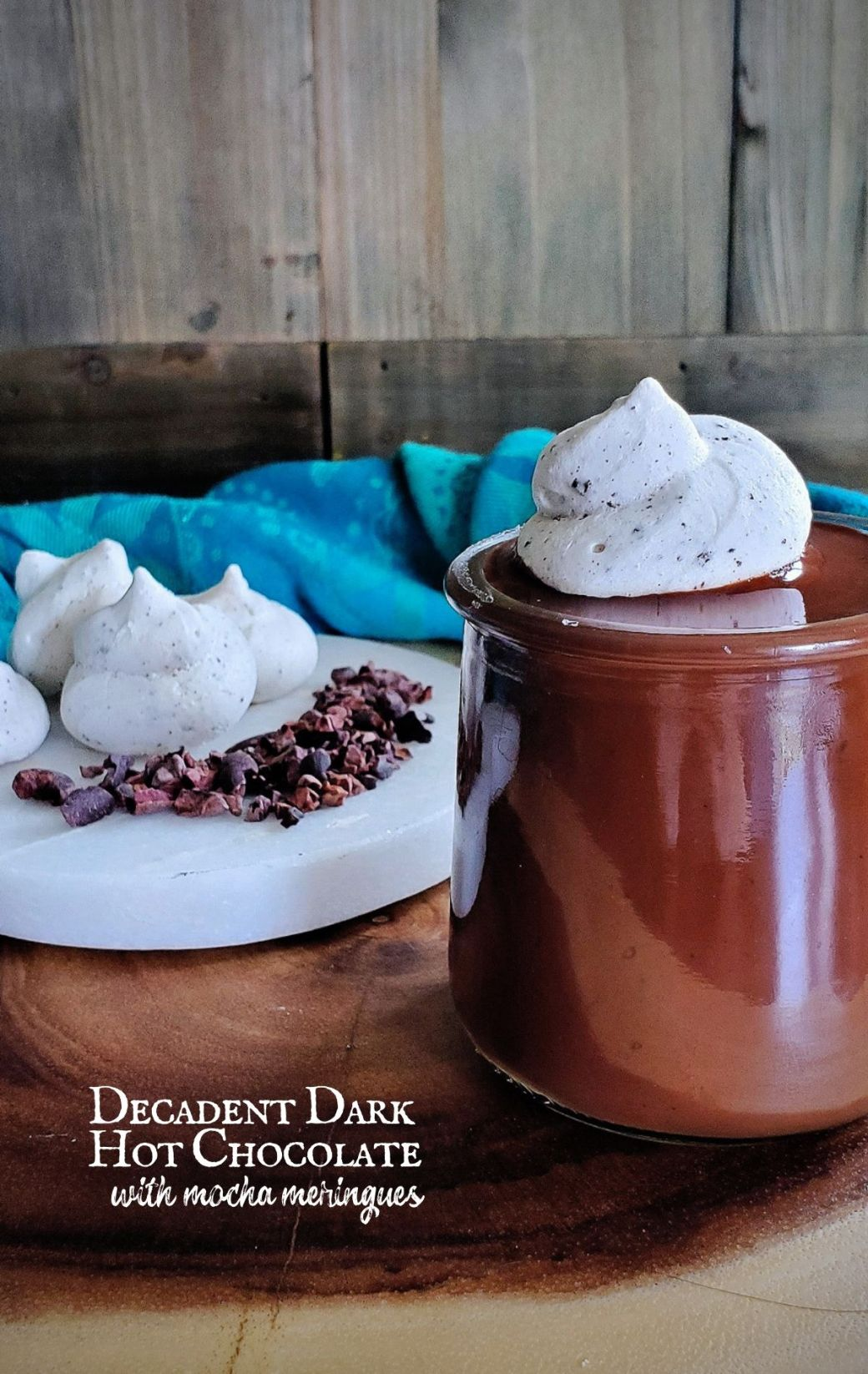 Decadent Dark Hot Chocolate with Coconut Milk