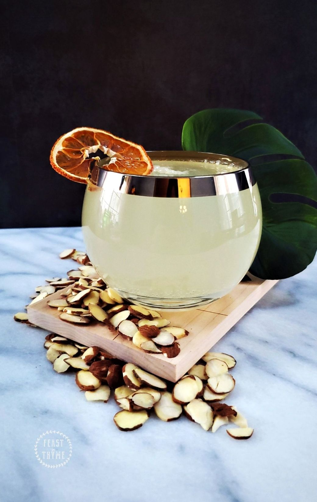 Spirit Free Candied Almond Lemon Drop | Non-Alcoholic Cocktail