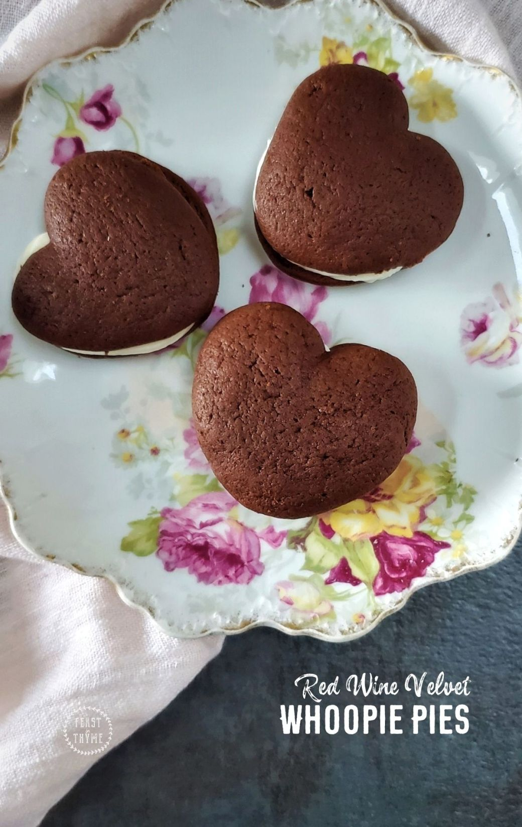 Red Velvet Whoopie Pies with Red Wine and Cacao
