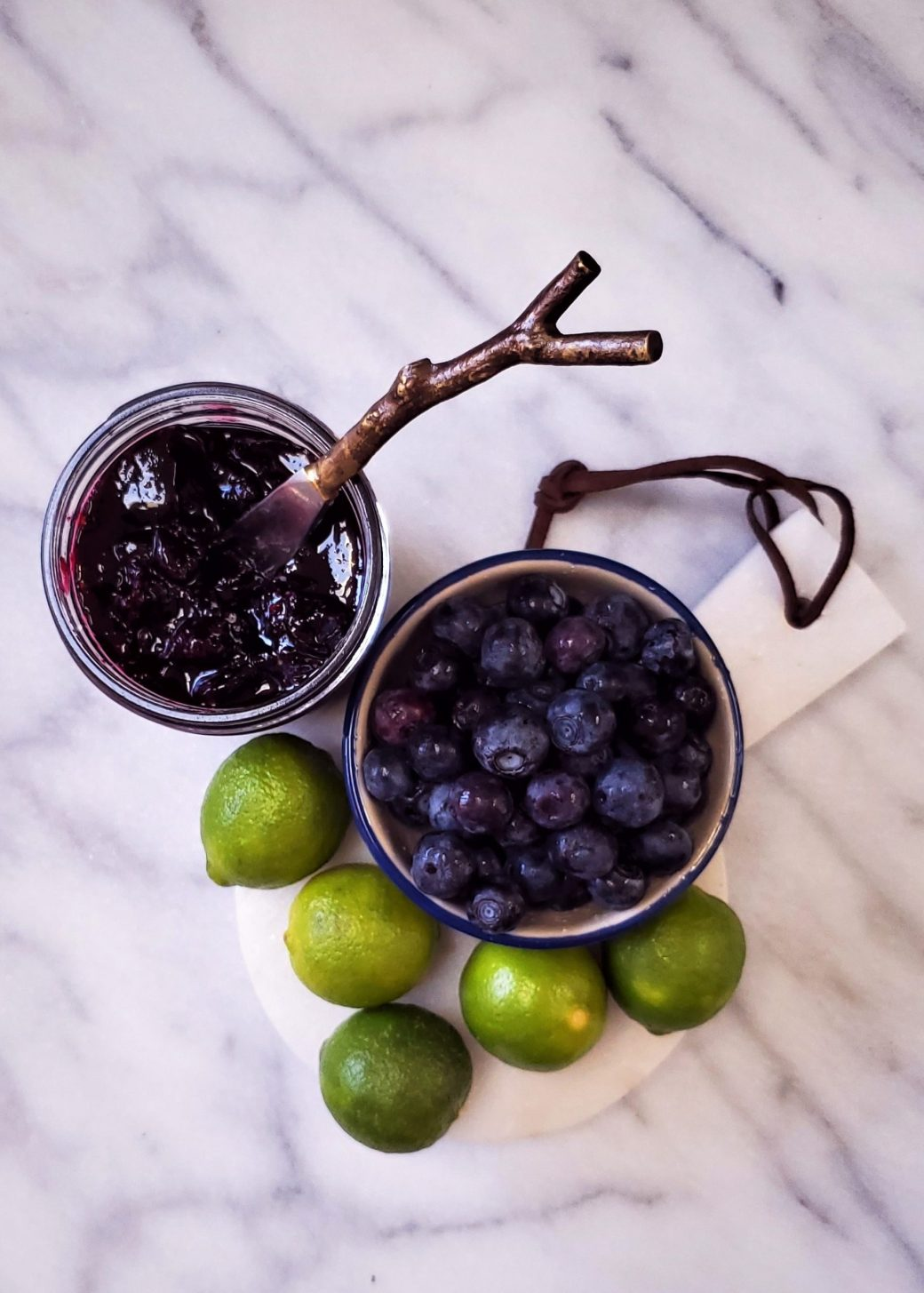 Key Lime Blueberry Jam with Cinnamon and Coriander