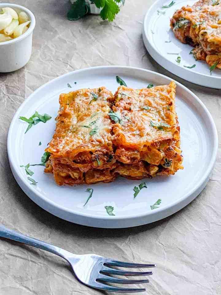 The best butter chicken lasagna recipe.