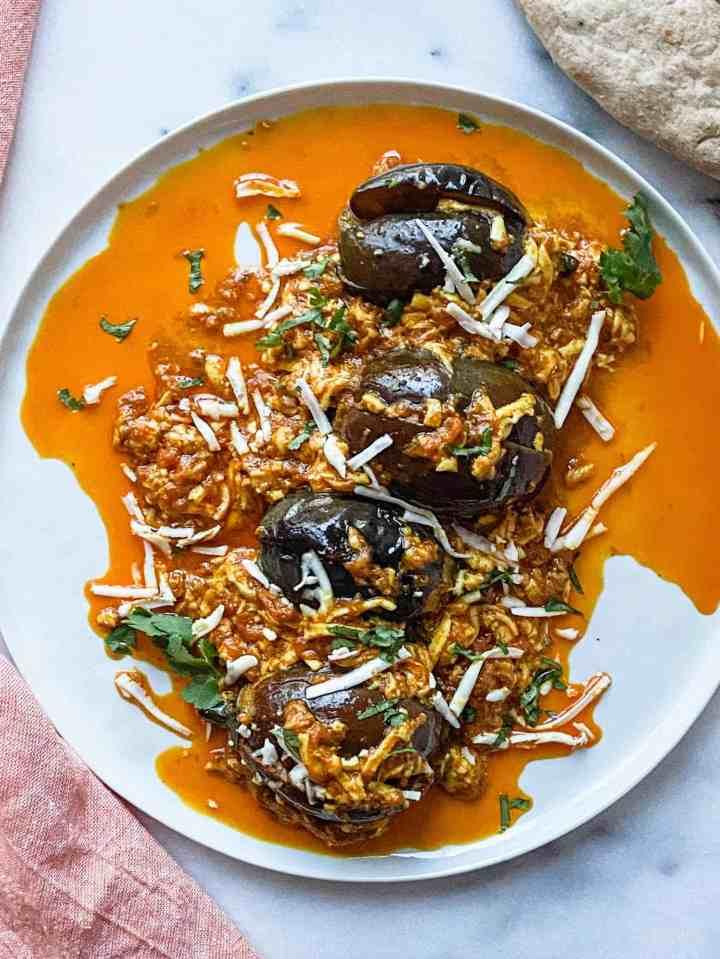 Eggplant Paneer Masala Curry Instant Pot Recipe.