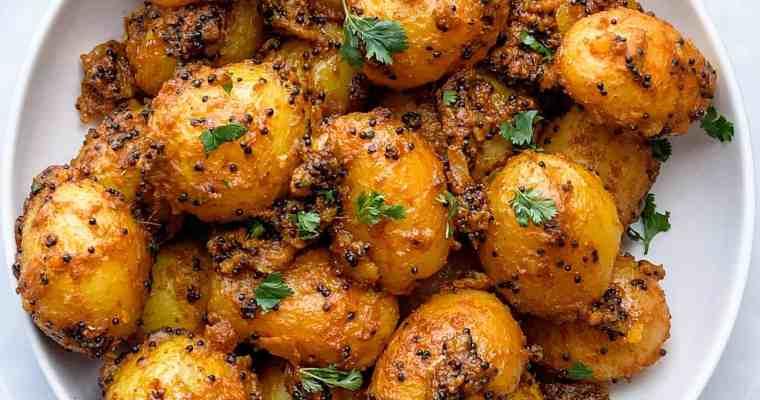 Masala Potatoes-Rai Wale Aloo