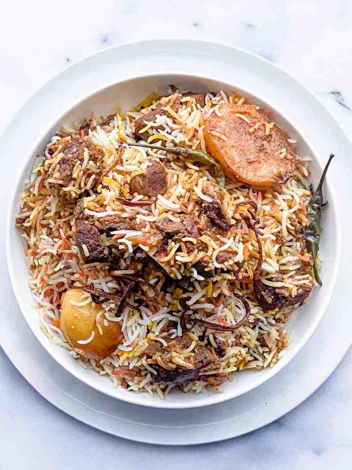 Authentic Mutton Biryani Recipe.