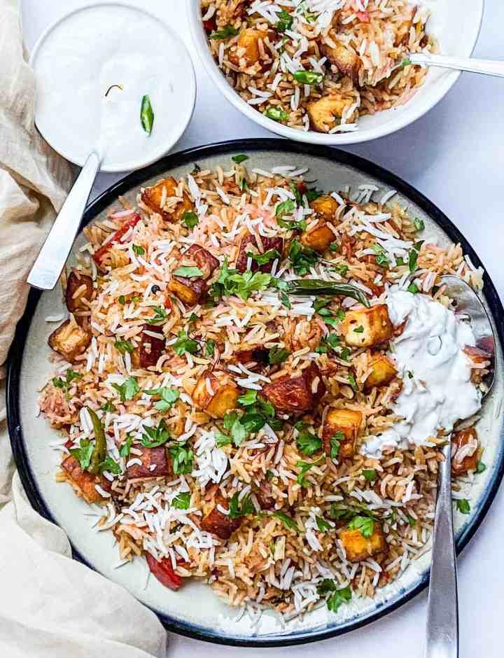 The best Paneer Biryani recipe.