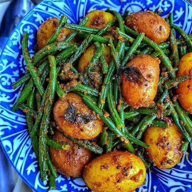 Indian Green bean Sabzi recipe. Masala Green Beans Recipe. French beans with Indian spices.