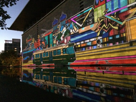 Josh Muir projection - White Night - NGV Melbourne