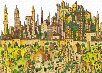 I love creating these vast cityscapes with tiny details. I will add some more as time goes on. Some are so large, that they don't photograph well.