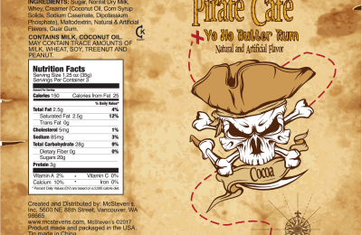 Pirate Cafe – Yo Ho Butter Rum Label
