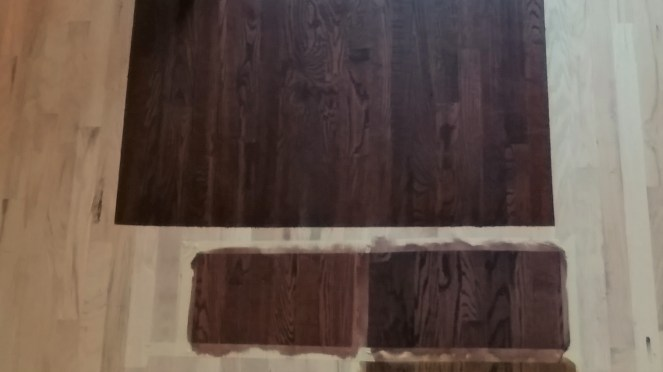 Mahogany Stain Samples