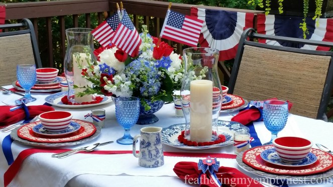 Eye-catching elements make up Old-Fashioned 4th of July Tablescape