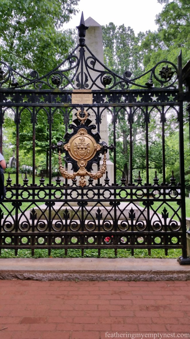 Gate for Jefferson's family plot --History Geeks' Tour of Monticello