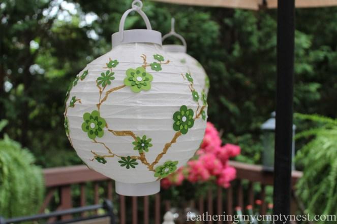 How To Embellish Chinese Lanterns--featheringmyemptynest.com