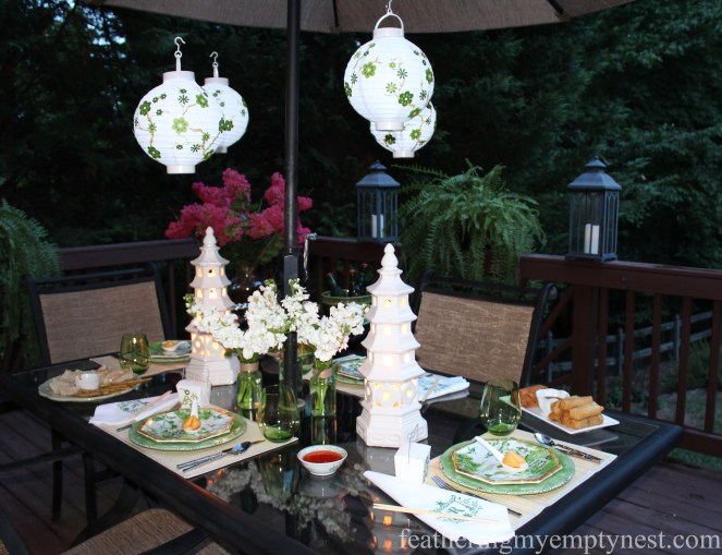 Dim Sum On The Deck: A Chinese Take-out Dinner Party--featheringmyemptynest.com