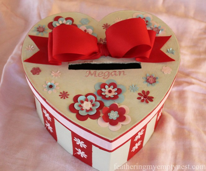 Heart-shaped valentine box --Valentines Ideas: Love Notes Through The Years