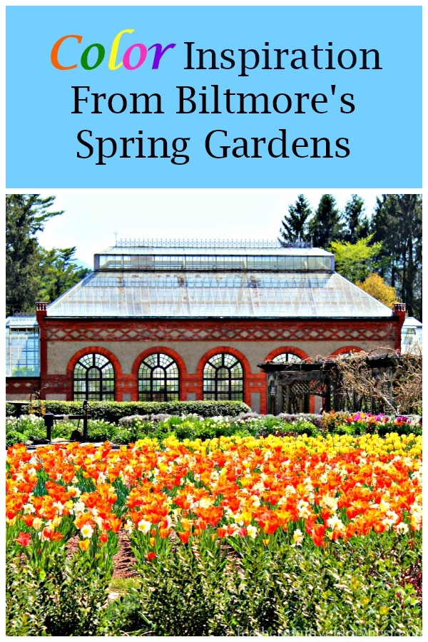 Inspiration for your garden from the gorgeous color combinations in Biltmore's Spring Gardens #BiltmoreEstate, #GardenColor, #SpringGardens, #NCArboretum,