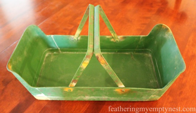 Metal garden basket --Fall Harvest Tablescape