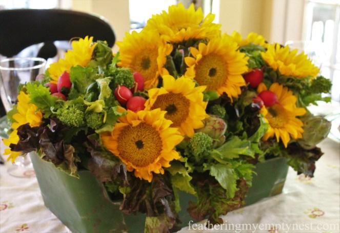 Garden centerpiece --Fall Harvest Tablescape