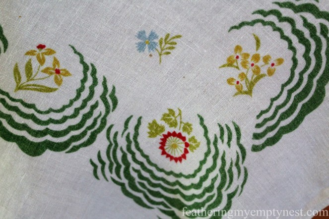 Vintage tablecloth--Fall Harvest Tablescape