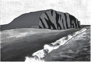 Painting of West Bay CLiff Dorset