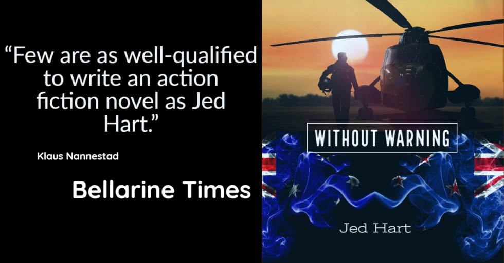 Without Warning by Jed Hart Review by The Bellarine Times Newspaper