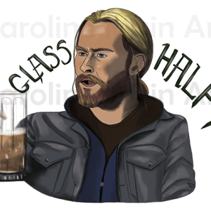 Thor Half Glass Full – Large Sticker