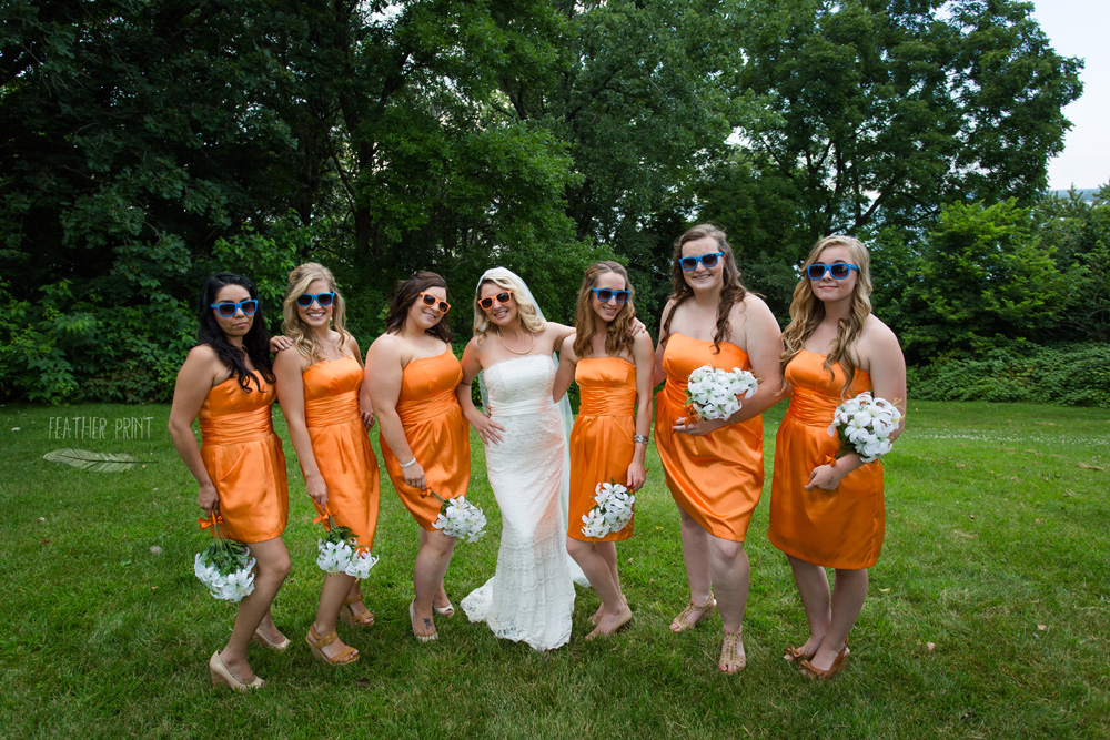 Jared  Jenni are Married Chicago Bears Themed Wedding  Feather Print Photography